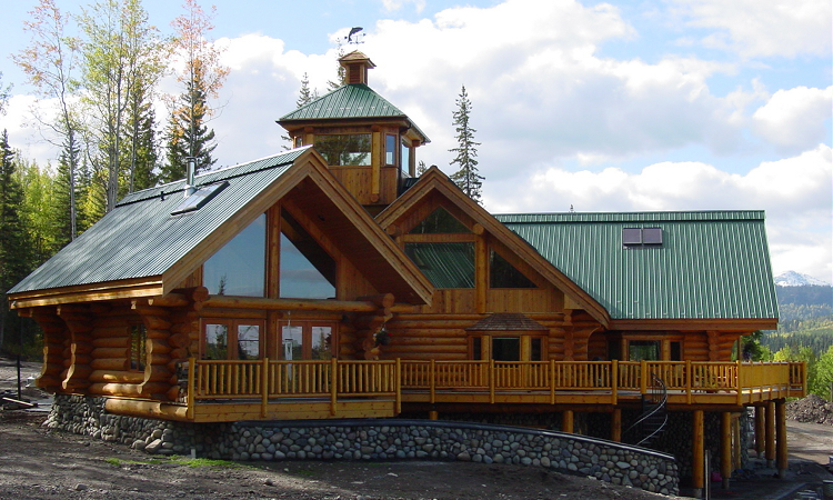 BC Canada luxurious country estate log homes